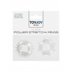 Anelli per Pene Power Stretchy Rings Clear 2Pcs