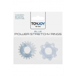 Anelli per Pene Power Stretchy Rings Blue 2Pcs